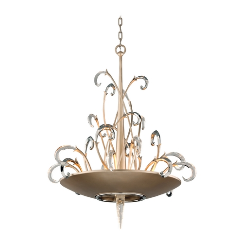 Corbett Lighting Corbett Lighting Crescendo Tranquility Silver L Island Light 156-48