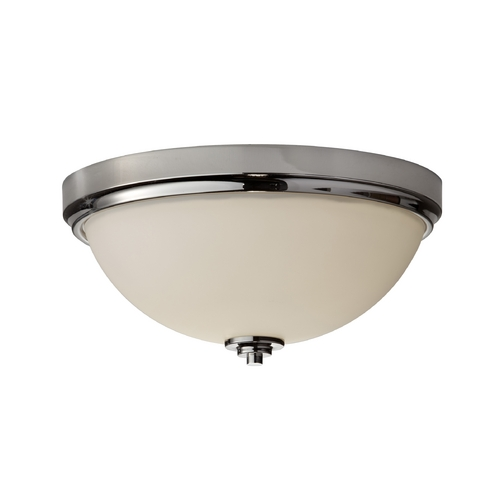 Home Solutions by Feiss Lighting Home Solutions Malibu Polished Nickel Flushmount Light FM372PN