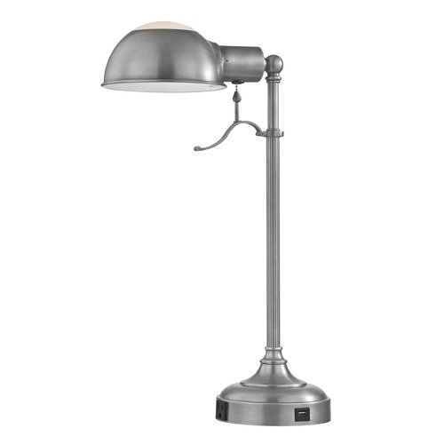Design Classics Lighting 22.5-Inch Tall Satin Nickel Table Lamp DCL 6077-3-09