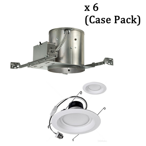 Juno Lighting Group Dimmable 14-Watt LED 6-Inch Recessed Lighting Kit - Case Pack of 6 IC22/14W LED TRIM KIT  PKG/6