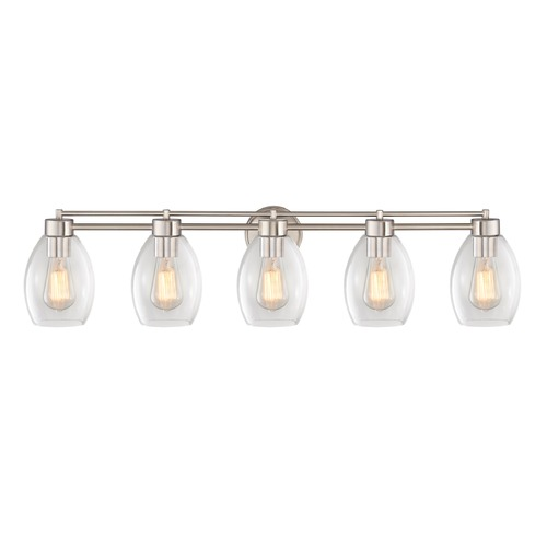 Design Classics Lighting Satin Nickel Bathroom Light 706-09 GL1034-CLR