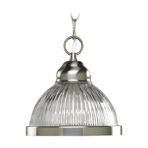 Progress Lighting Progress Mini-Pendant Light with Clear Glass P5080-09