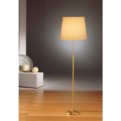 Holtkoetter Lighting Holtkoetter Modern Floor Lamp with Beige / Cream Shade in Brushed Brass Finish 6354 BB KPRG