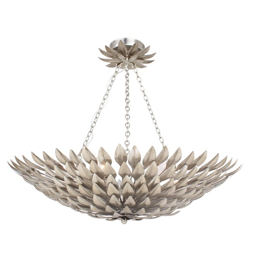 Crystorama Lighting Crystorama Lighting Broche Antique Silver Semi-Flushmount Light 517-SA_CEILING