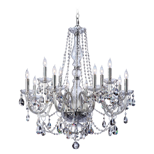 Quorum Lighting Quorum Lighting Bohemian Katerina Chrome Crystal Chandelier 631-12-514