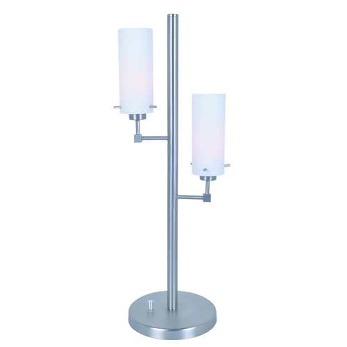 Lite Source Lighting Lite Source Scarlett Polished Steel Table Lamp with Cylindrical Shade LS-22755