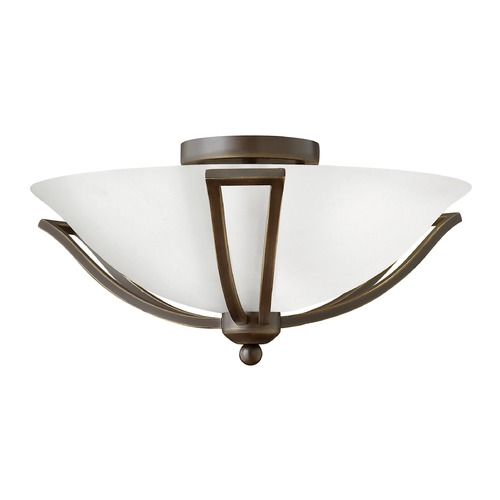 Hinkley Lighting Hinkley Lighting Bolla Olde Bronze Flushmount Light 4660OB-OPAL