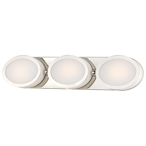 Minka Lavery Minka Pearl Bath Polished Nickel LED Bathroom Light 2903-613-L