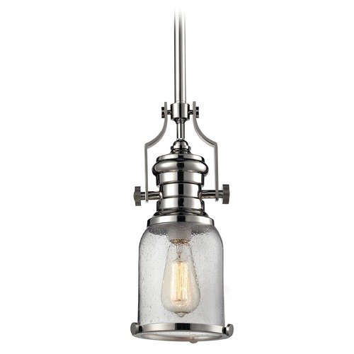 Elk Lighting Elk Lighting Chadwick Polished Nickel Mini-Pendant Light with Bowl / Dome Shade 67732-1