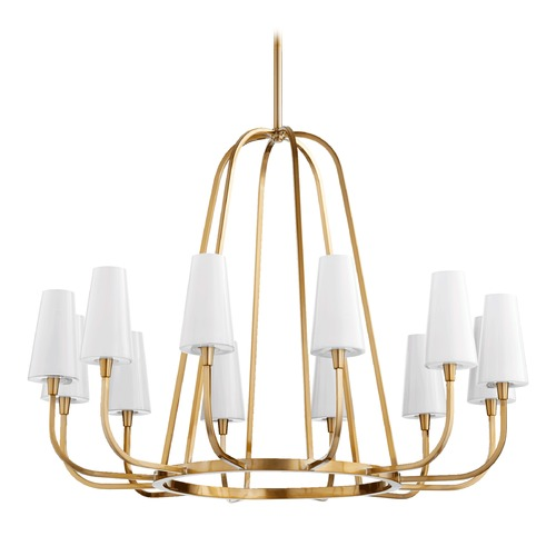 Quorum Lighting Quorum Lighting Highline Aged Brass Chandelier 632-12-80