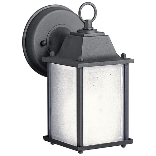 Kichler Lighting Kichler Outdoor Wall Light with White Glass in Black Finish 10923BK