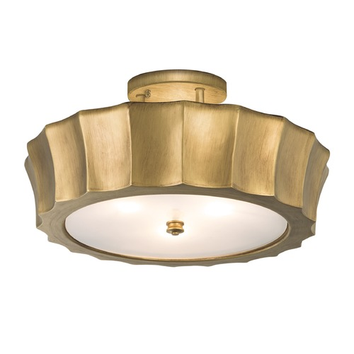 Norwell Lighting Norwell Lighting Isabel Antique Brass Semi-Flushmount Light 5652-AN-MO