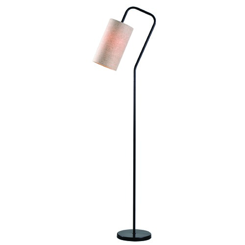 Flamingo Bronze Floor Lamp With Cylindrical Shade By