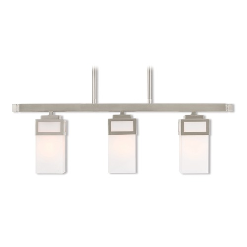 Livex Lighting Livex Lighting Harding Brushed Nickel Island Light with Rectangle Shade 40193-91
