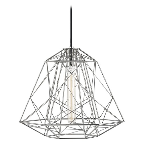 Mitzi by Hudson Valley Industrial Pendant Light Polished Nickel Mitzi Ani by Hudson Valley H182701-PN