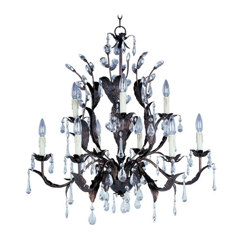 Maxim Lighting Crystal Chandelier in Oil Rubbed Bronze Finish 8836OI