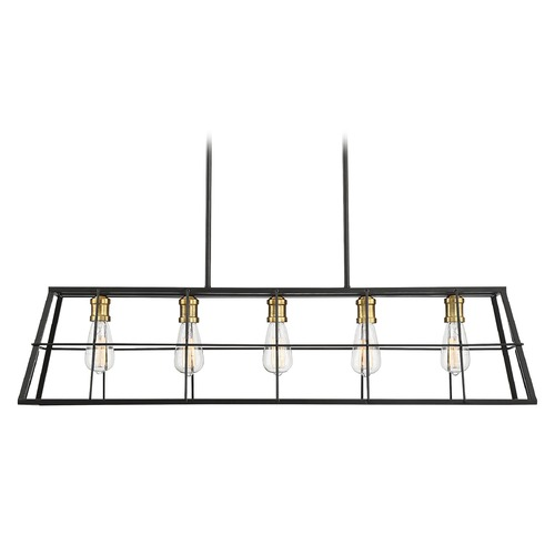 Savoy House Savoy House 5-Light Black and Brass Island Light 1-2250-5-51