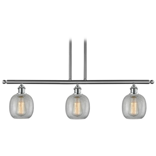 Innovations Lighting Innovations Lighting Belfast Brushed Satin Nickel Island Light with Globe Shade 516-3I-SN-G105
