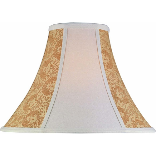 Lite Source Lighting Light Beige Bell Lamp Shade with Spider Assembly CH176-18