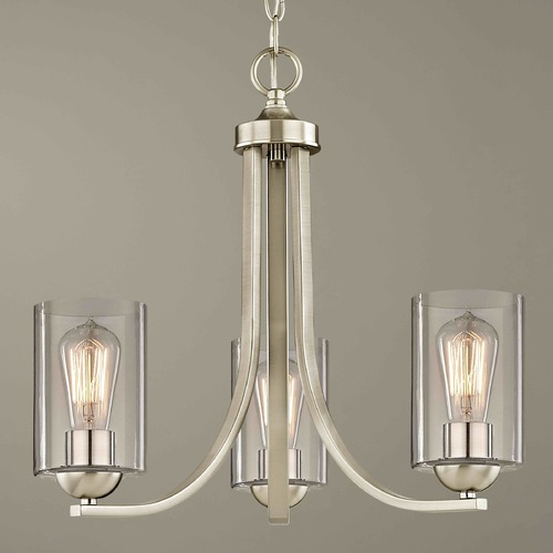 Design Classics Lighting Design Classics Dalton Fuse Satin Nickel Mini-Chandelier 5843-09 GL1040C