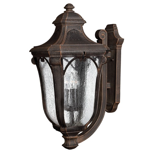 Hinkley Lighting Outdoor Wall Light with Clear Glass in Mocha Finish 1319MO