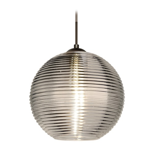 Besa Lighting Besa Lighting Kristall Bronze LED Pendant Light with Globe Shade 1JT-461602-LED-BR