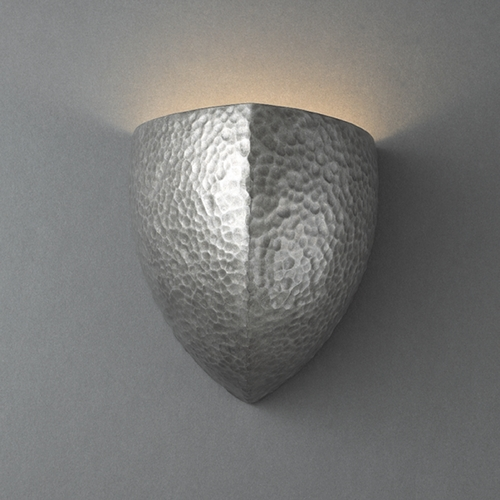 Justice Design Group Sconce Wall Light in Hammered Pewter Finish CER-1850-HMPW
