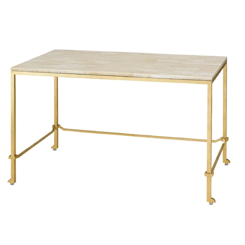Currey and Company Lighting Currey and Company Lighting Gold Leaf Accent Table 4125