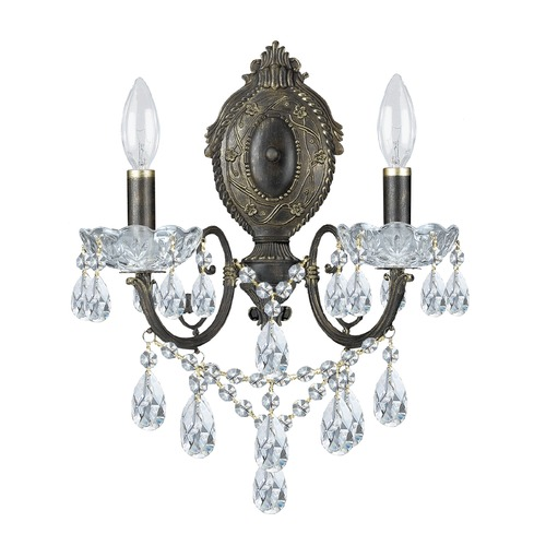 Crystorama Lighting Crystorama Lighting Legacy English Bronze Sconce 5192-EB-CL-MWP