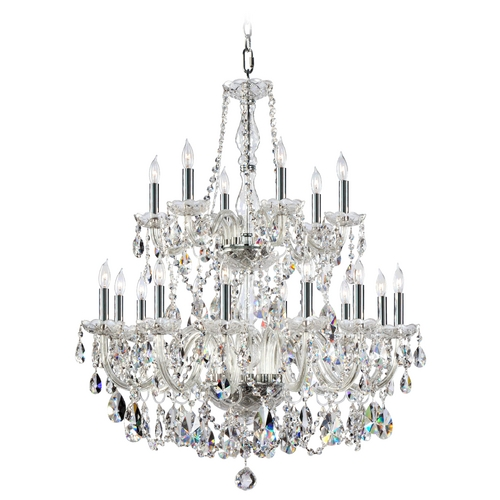 Quorum Lighting Quorum Lighting Bohemian Katerina Chrome Crystal Chandelier 631-18-514