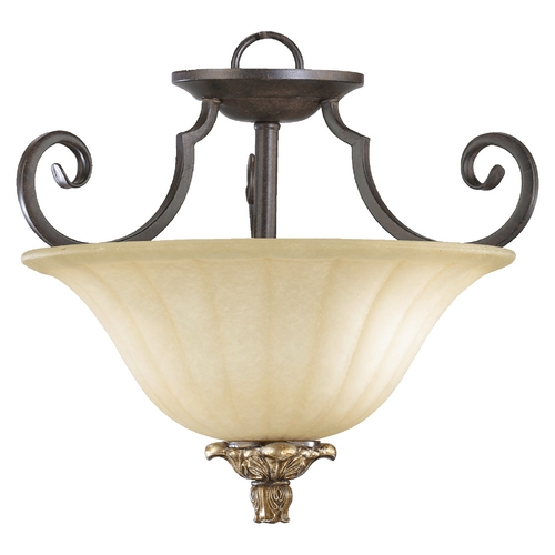 Quorum Lighting Quorum Lighting Capella Toasted Sienna with Golden Fawn Pendant Light 2801-15-44