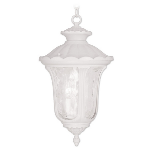 Livex Lighting Livex Lighting Oxford White Outdoor Hanging Light 7858-03