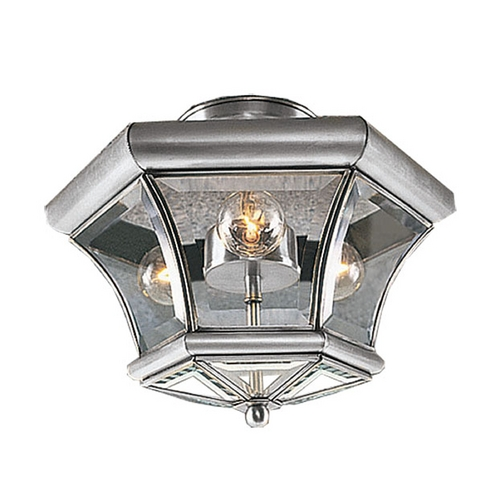 Livex Lighting Livex Lighting Monterey Brushed Nickel Semi-Flushmount Light 4083-91
