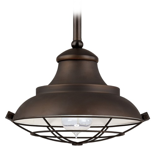 Capital Lighting Capital Lighting Pendant Burnished Bronze Mini-Pendant Light with Bowl / Dome Shade 4567BB