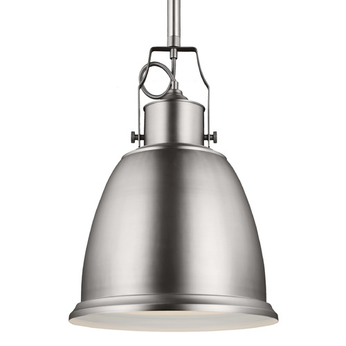 Feiss Lighting Feiss Hobson Satin Nickel Pendant Light P1359SN