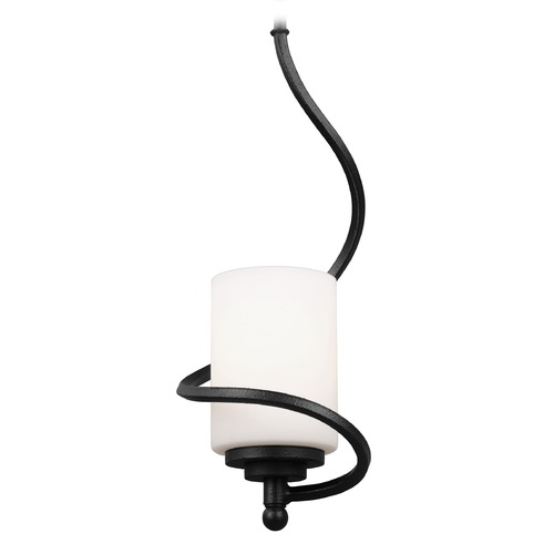 Sea Gull Lighting Sea Gull Goliad Blacksmith Mini-Pendant Light with Cylindrical Shade 6125201-839