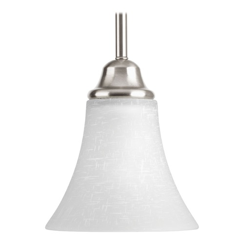 Progress Lighting Progress Lighting Tally Brushed Nickel Mini-Pendant Light with Bell Shade P5664-09