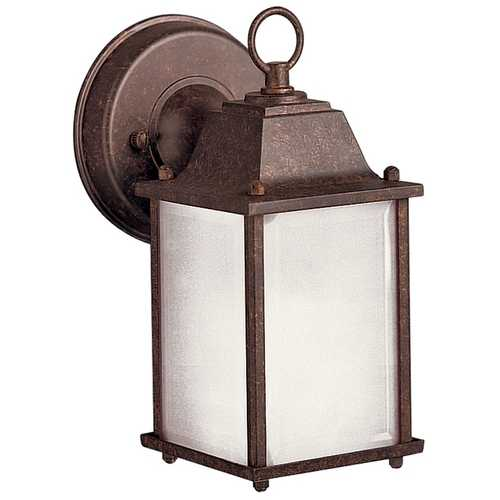 Kichler Lighting Kichler Outdoor Wall Light with White Glass in Tannery Bronze Finish 10923TZ