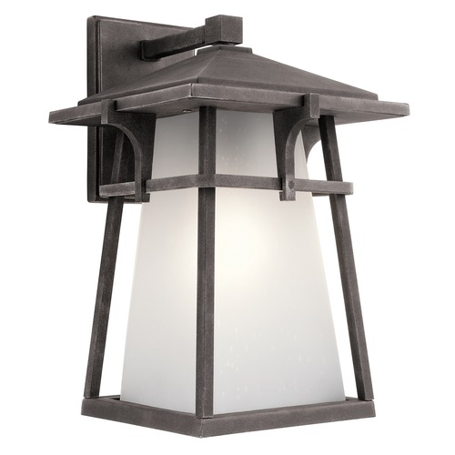 Kichler Lighting Kichler Lighting Beckett Weathered Zinc LED Outdoor Wall Light 49722WZCL16