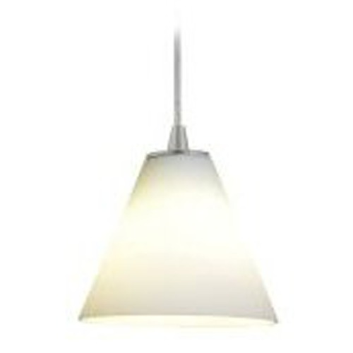 Access Lighting Modern Mini-Pendant Light with White Glass 28004-2C-ORB/WHT