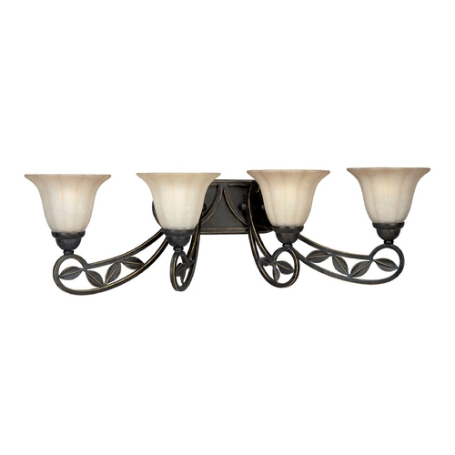 Progress Lighting Progress Bathroom Light with Beige / Cream Glass in Espresso Finish P2969-84