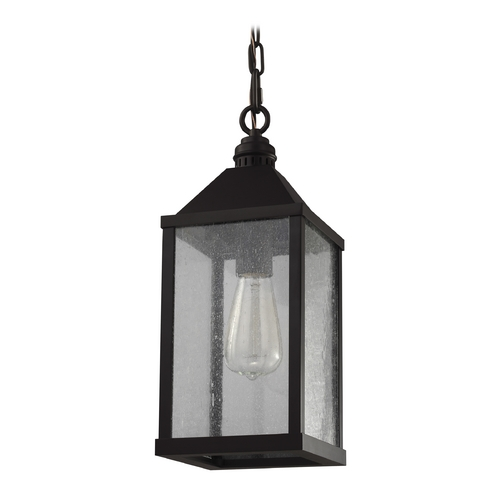 Feiss Lighting Feiss Lighting Lumiere Oil Rubbed Bronze Mini-Pendant Light with Rectangle Shade P1328ORB