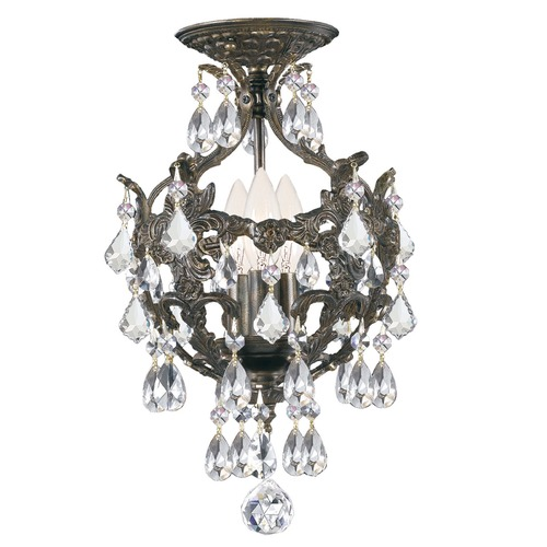 Crystorama Lighting Crystorama Lighting Legacy English Bronze Semi-Flushmount Light 5193-EB-CL-MWP_CEILING