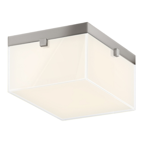 Sonneman Lighting Sonneman Lighting Parallel Satin Nickel LED Flushmount Light 3867.13LED