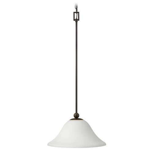 Hinkley Lighting Hinkley Lighting Bolla Olde Bronze Mini-Pendant Light with Bowl / Dome Shade 4661OB-OPAL
