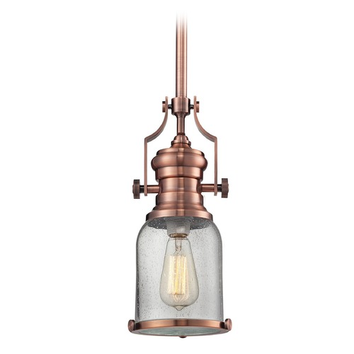 Elk Lighting Elk Lighting Chadwick Copper Mini-Pendant Light with Bowl / Dome Shade 67712-1