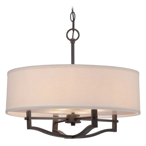 Minka Lavery Minka Vintage Bronze Pendant Light with Drum Shade 844-284