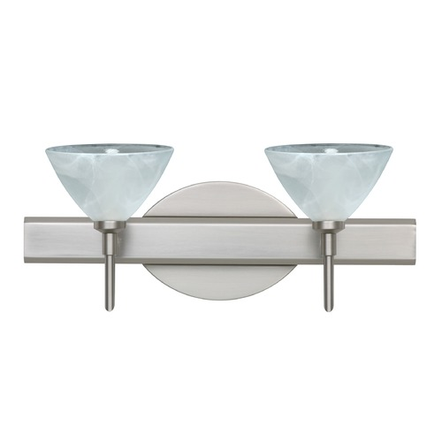 Besa Lighting Besa Lighting Domi Satin Nickel LED Bathroom Light 2SW-174352-LED-SN
