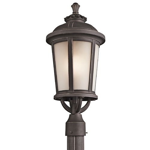 Kichler Lighting Kichler Post Light with White Glass in Rubbed Bronze Finish 49413RZ