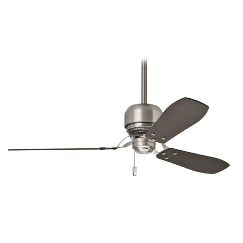 Casablanca Fan Co Casablanca Fan Tribeca Brushed Nickel Ceiling Fan Without Light 59501